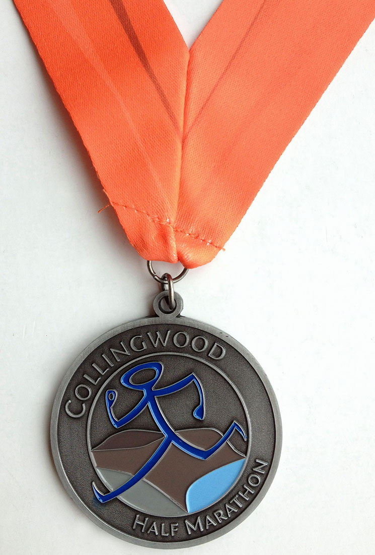 Collingwood Half Marathon and 10K Finishing Medal